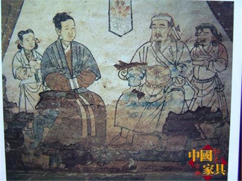 1元墓壁画——对座图 (2)