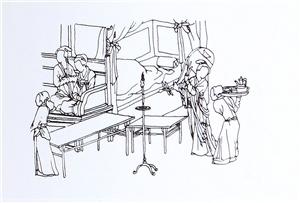 1、这是海派家具的片子床,两片挡板的雕花采用了传统的藕、莲蓬和荷花图案。_看图王