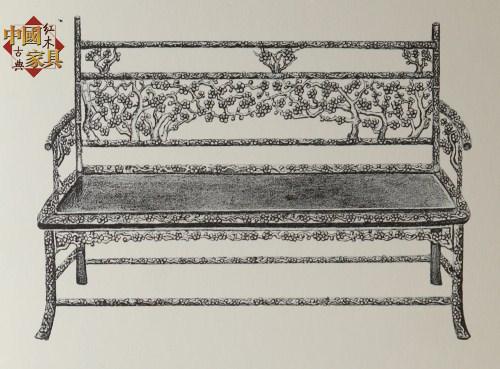 13《清代广式家具》所载的广式梅花床