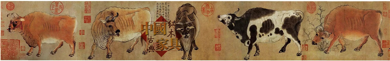 1、唐代画家韩滉所绘《五牛图》原作,现藏于北京故宫博物院。2_副本